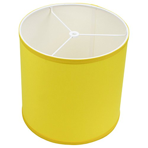 FenchelShades.com 10.5'' Top Diameter x 10.5'' Bottom Diameter 10.5'' Height Cylinder Drum Lampshade USA Made (Citrus) by FenchelShades.com