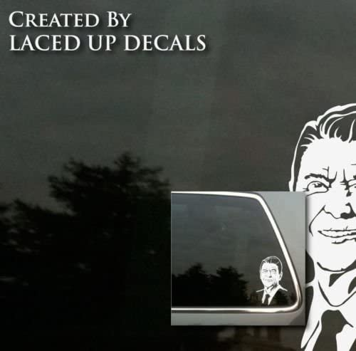 Vinyl Sticker Waterproof Decal Ronald Reagan Shut Up Hippie