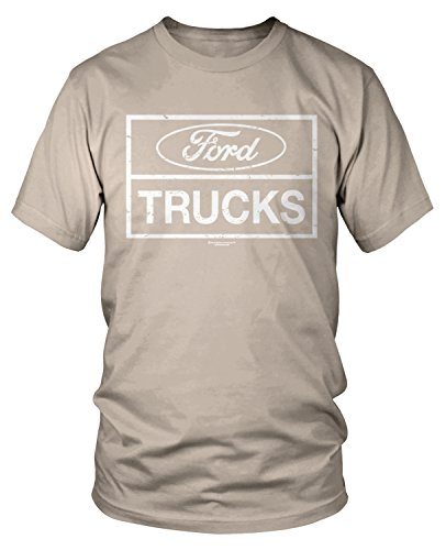 Amdesco Men's Ford Trucks, Officially Licensed Ford T-Shirt, Putty Small