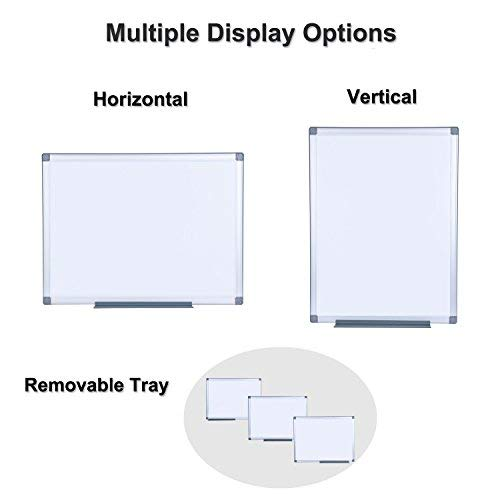 EFIRNITURE Magnetic Dry Erase Board, 18x24 inch Whiteboard Aluminum Frame Wall Mounted with Removable Marker Tray, Perfect for Home Office School