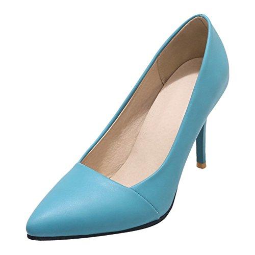Charme Voet Dames Mode Puntschoen Jurk Hoge Hakken Pumps Schoenen Blauw