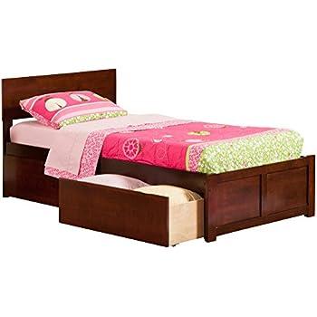 Amazon.com: Prepac Espresso Twin XL/Mates XL Platform Storage Bed (3 ...