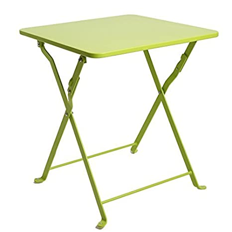 Amazon finnhomy small square folding side end table sofa table finnhomy small square folding side end table sofa table tray side table snack table metal anti watchthetrailerfo