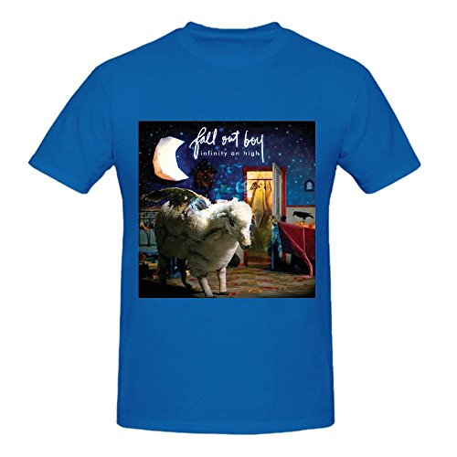 Fall Out Boy Infinity On High Big Men Tee Shirts Round Neck Blue