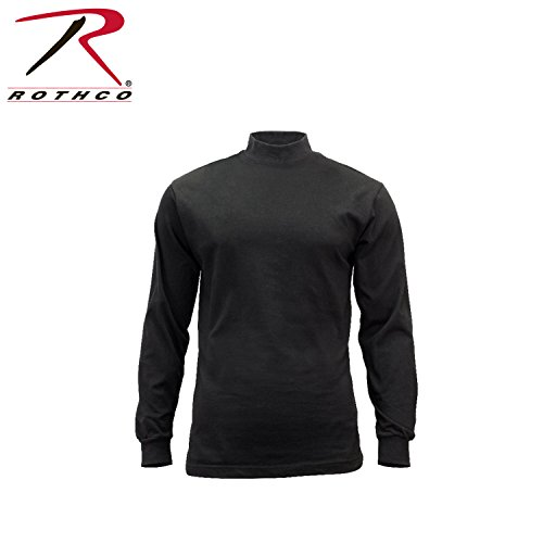 Turtleneck Shirt (Rothco Mock Turtleneck Shirt, Black, X-Large)