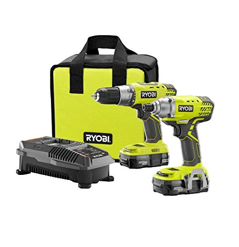 Driver Cordless Drill 18-Volts and Impact Driver Combo Kit (2-Power Tool) with Accessories. Set Includes (2 Batteries 1.3Ah Lithium-Ion + Charger + Carry Bag). Handyman Rechargeable Hand Tools