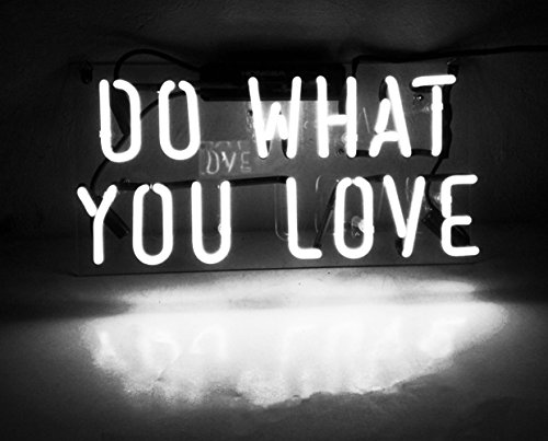 Neon Light Sign Do What You Love Real Glass Handmade 12 x 9.8' …