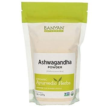 Banyan Botanicals Organic Ashwagandha Root Powder - 1/2 LB - Indian Ginseng  - Adaptogen