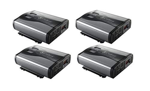(4) Cobra CPI1575 1500 WATT DC to AC Car Power Inverters w/ 3 Outlets & USB Port (Cobra 1,500w Power Inverter)