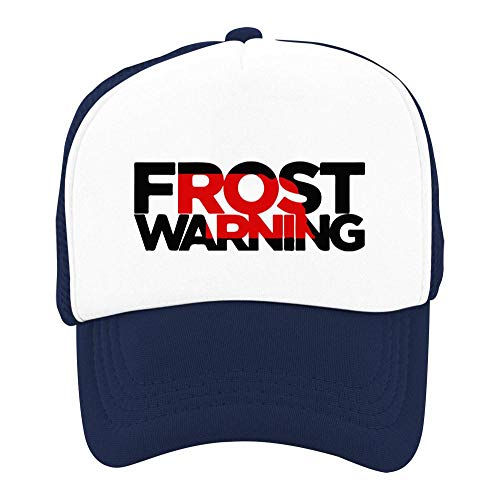 Heiazha Hipster Printed Kids Cap,Scott Frost Warning Nebraska Husker Football Mesh Fitted Hats Snapback Cap for Boy Girl Navy]()