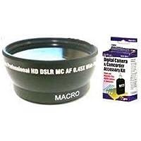 Wide Lens + Kit for Sony DCR-HC90, Sony DCRHC90, Sony DCR-SR50, Sony DCR-SR50E, Sony HDRUX20E, Sony DCRSR50E