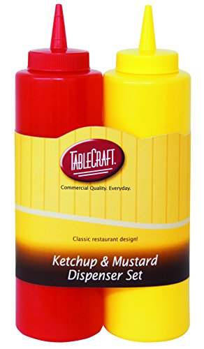 TableCraft 112KM Nostalgia 2-Piece Ketchup and Mustard Dispenser Set, 12-Ounce -