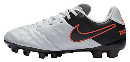 Design Nike Football Cleats - NIKE Kid's Jr. Tiempo Legend VI FG Soccer Cleat (Sz. 3.5Y) Pure Platinum, Black
