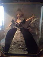 Holiday Barbie Special Edition Millenium Princess Mattel Year 1999 2000 with Swirl Background inside Box