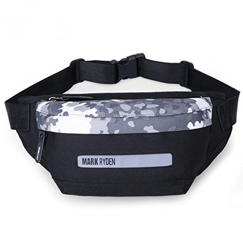 TRRE koreanische Version der Tendenz von Männern und Frauen Sport-Freizeit-wilde Tasche Brusttasche Umhängetasche Schwarz, L25cm * W7cm * H13.5cm
