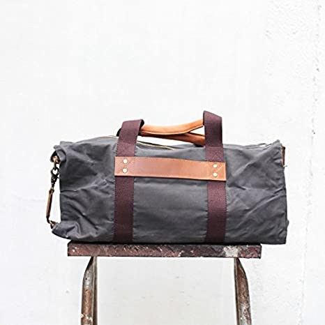 Hogarth Travel Bag Water Resistant All-purpose bag Handmade Waxed Canvas Duffel Gym Bag