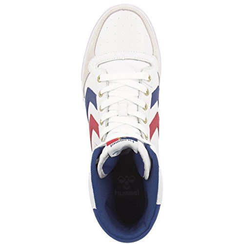 Stadil 9228 High Hummel 666 blue red da 63 gum Adulto White Scarpe Unisex ginnastica 1dqOrdAn