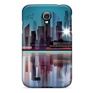 Defender Case For Galaxy S4, Big City Blues Pattern