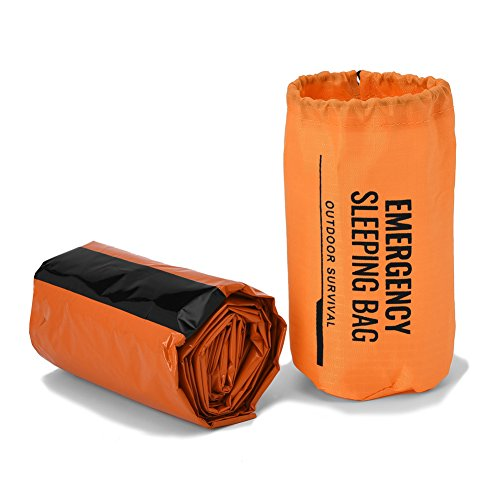 Emergency Survival Sleeping Bag, Bivy Sack Emergency Thermal Blanket for Bug Out Bag Outdoor Camping Hiking First Aid Survival Kit