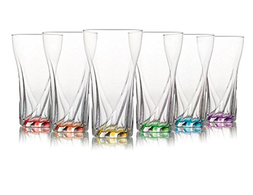 6 Pcs Drinking Glasses Set Tumbler Dinner Evening Juice Dining Gift Glass 370ml - RayanDirect Glassware