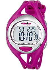Timex Womens T5K7599J Ironman Sleek 50-Lap Fuchsia Resin Strap Watch