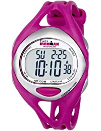 Womens T5K7599J Ironman Sleek 50-Lap Fuchsia Resin Strap Watch