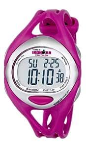 Timex Women's T5K7599J Ironman Sleek 50-Lap Fuchsia Resin Strap Watch