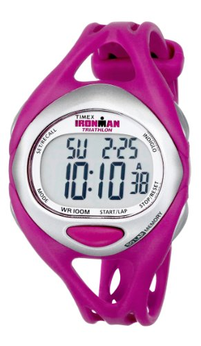Timex Women's T5K7599J Ironman Sleek 50-Lap Fuchsia Resin Strap Watch (Lap Counter With Timer compare prices)