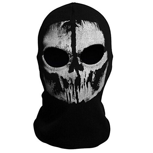 Call of Duty Ghost Mask Cod Ghost Mask Ghost Skull Face Mask Skull Balaclava Skeleton Mask for Halloween Costume Cosplay (Call Of Duty Ghosts Halloween Costumes)