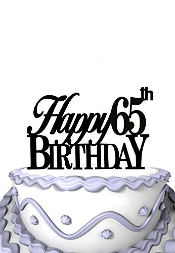 Image Unavailable Not Available For Color Happy 65th Birthday Cake Topper