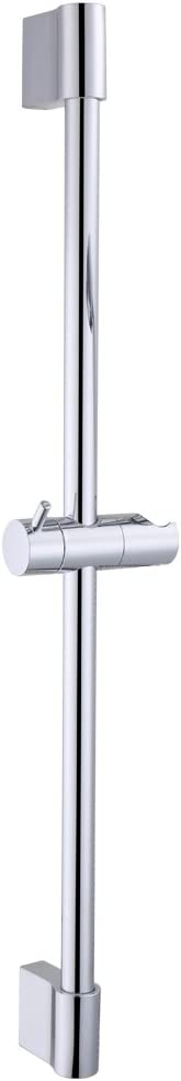 KES Shower Riser Rail 28-Inch SUS304 Stainless Steel Shower Rail Slider with Height Adjustable Shower Head Holder Polished Chrome, F200-CH