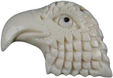 Amazon Com Curious Designs Bone Pendant Eagle Head Jewelry
