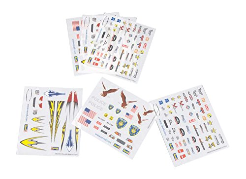 Revell Pinewood Derby Dry Transfer H-J Assortment #3 Decal (6 Sheets)