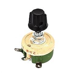 uxcell 25W 100 Ohm Round Ceramic Wirewou...