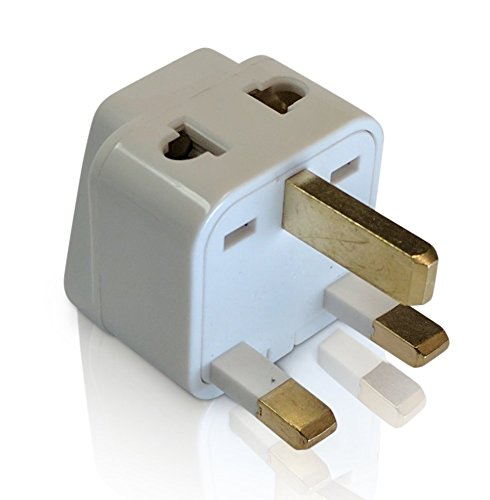2 in 1 UK Travel Adapter For TYPE G Plug - Works With Electrical Outlets In United Kingdom, Ireland, Great Britian, Scotland, England, London, Dublin