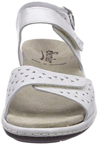 Semler Heidi - sandalias de tacón con cierre al tobillo de cuero mujer blanco - Weiß (011 offwhite)