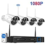 1080P Wireless Security Camera System, NexTrend 8CH 1080P Outdoor Security Camera System(1TB Hard Drive), 4PCS 1080P Wireless Security Camera, Waterproof Outdoor Surveillance Sytstem