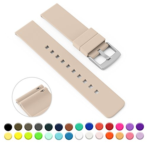 gadgetwraps-14mm-silicone-strap-band-for-pebble-watch-with-quick-release-pins-sand