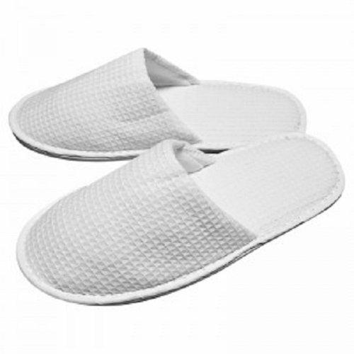RPT - Zapatillas con puntera cerrada, diseño en relieve, color blanco