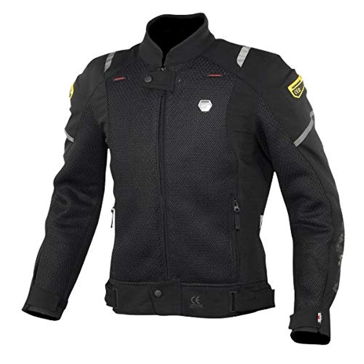 [해외] 코미네 KOMINE 오토바이 스푸리무프로텍트메시(mesh)재킷 CE규격 레벨2 아우터 프로텍터 통기성 플래그쉽 봄과 여름 BLACK XL 07-148 JK-148