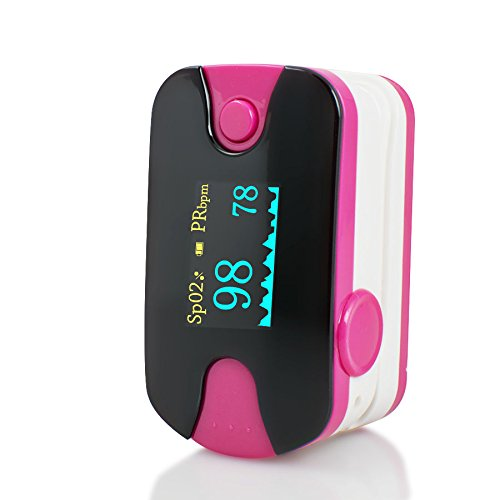 Careshine Rose color FDA approved OLED Finger Tip Pulse Oximeter Blood Oxygen SpO2 PR Monitor