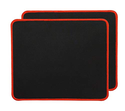 RiaTech 2 Pack (250mm x 210mm x 2mm) Gaming Mouse Pad for Laptop/Computer with Stitched Embroidery Edges and Water…