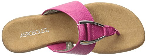 Aerosoles Women's Nice Save Flip Flop, Black, 6 M US Pink Snake