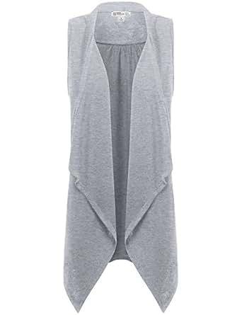 FPT Womens Asymmetrical Draped Open Hem Knit Vest HEATHER GRAY SMALL