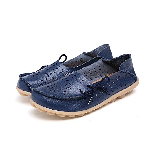 Zapatos de Mujer Verano Slip-Ons Slip-Ons Zapatos de Guisantes Mocasines Planos Casual Low-Top Oxfords Zapatos de Enfermera de Gran Tamaño E