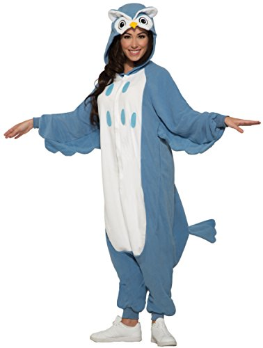 Halloween Womens Costumes Owl (Forum Women's Owl Onesie Jumpsuit Costume, Blue/White,)