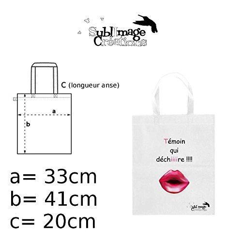 bag sac cadeau shopping sac course qui déchire tote cabat idée mariage témoin wTdqAZX
