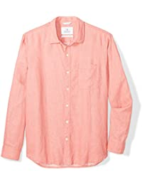 Men's Standard-Fit Long-Sleeve 100% Linen Shirt