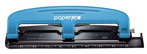 PaperPro inPRESS 12 Reduced Effort 3-Hole Punch, 12 Sheets, Blue (2103) -