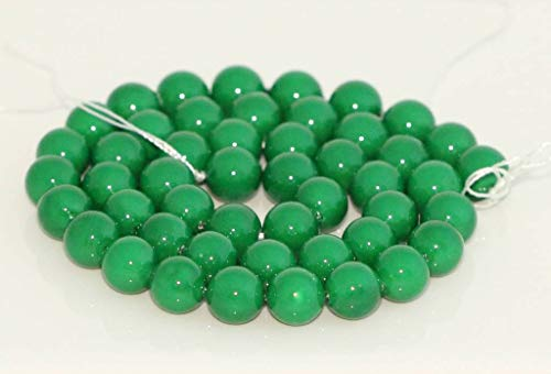 Emerald Green Natural Shell Pearl Loose Beads 8mm, ~15.5